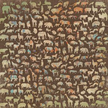 Kaisercraft 12x12 Scrapbooking paper Into the Wild Collection Grasslands